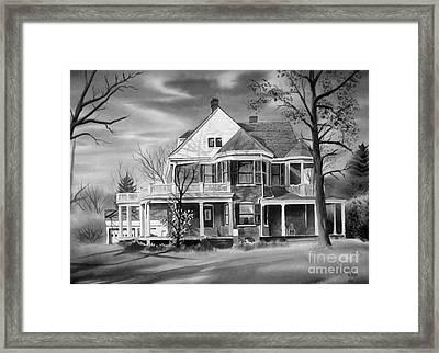 Edgar Home Bw Framed Print by Kip DeVore