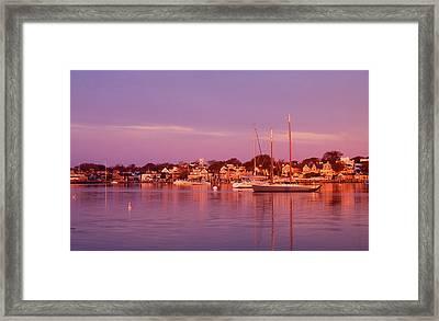 Edgartown Harbor Framed Print by John Burk