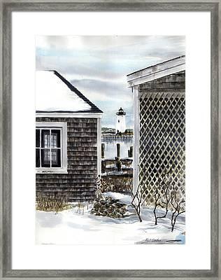 Edgartown Winter Framed Print by Paul Gardner