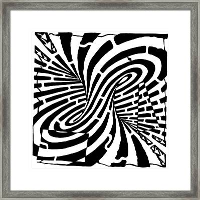 Edge Of A Mobius Strip Maze Framed Print by Yonatan Frimer Maze Artist