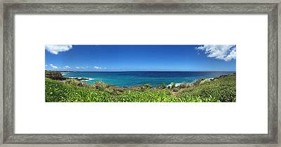 Edge Of Endless Lawai Kauai Framed Print by Steven Lapkin