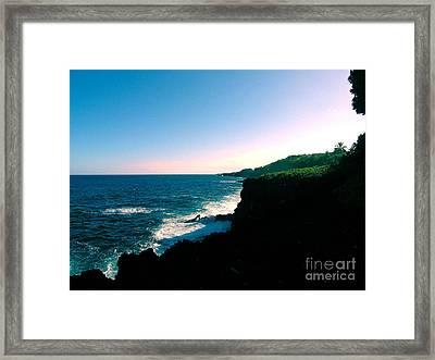 Edge Of The World Framed Print by Silvie Kendall