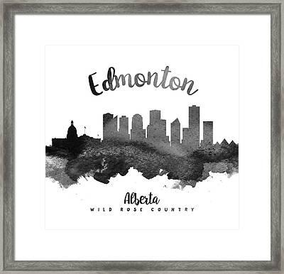 Edmonton Alberta Skyline 18 Framed Print by Aged Pixel