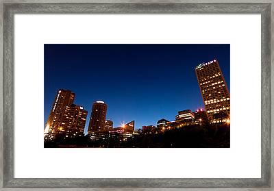 Edmonton Blue Hour Framed Print by Ian MacDonald