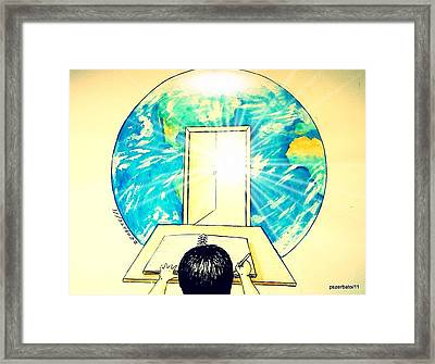 Education Is The Way Framed Print by Paulo Zerbato