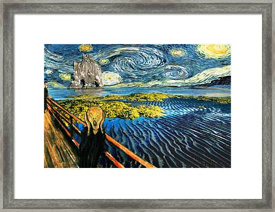 Edvard Meets Vincent Posters Framed Print by Gravityx9  Designs