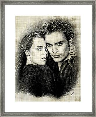 Edward And Bella Version  2 Framed Print by Andrew Read