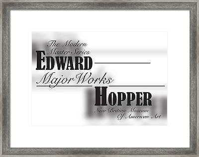 Edward Hopper, Bernard Mt  Framed Print by Leon Gorani