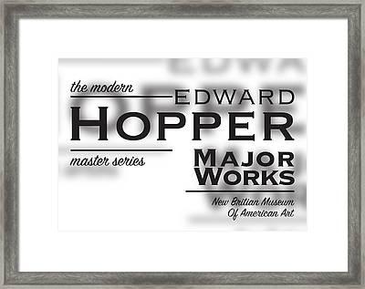 Edward Hopper, Copperplate Framed Print by Leon Gorani