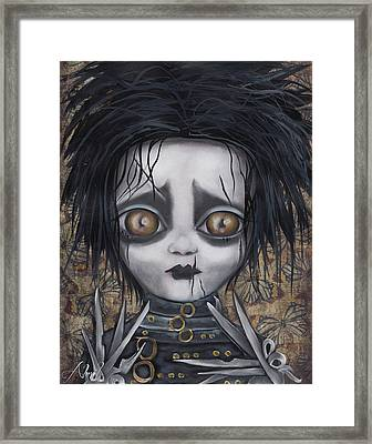 Edward Scissorhands Framed Print by Abril Andrade Griffith