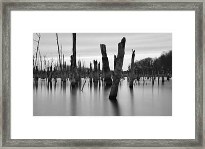 Eerie Lake Framed Print by Jennifer Ancker