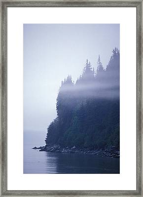 Eerie Seascape With Trees, Cliff Framed Print by Rich Reid