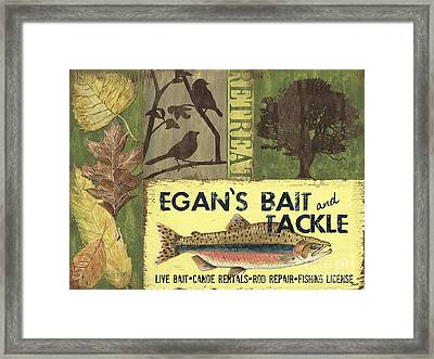 Egan's Bait And Tackle Lodge Framed Print by Debbie DeWitt