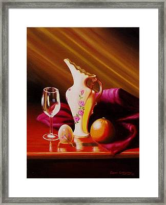 Egg And Things Framed Print by Gene Gregory