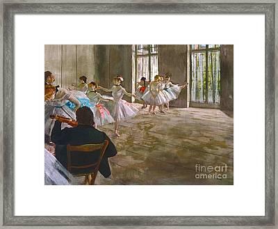 Egg Tempera Framed Print by Edgar Degas