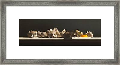 Egg With Shells No.3 Framed Print by Larry Preston