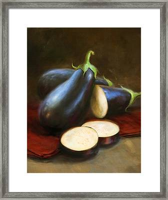 Eggplants Framed Print by Robert Papp
