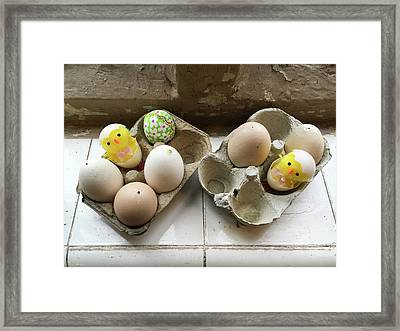 Eggs Decorated For Easter Framed Print by Tom Gowanlock