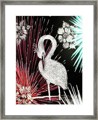 Egret 16-02d Framed Print by Maria Urso