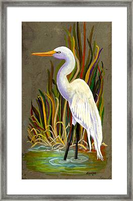 Egret Framed Print by Elaine Hodges