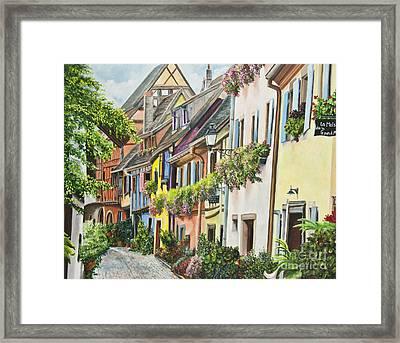 Eguisheim In Bloom Framed Print by Charlotte Blanchard
