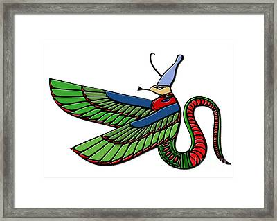 Egyptian Demon Framed Print by Michal Boubin