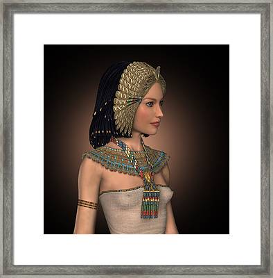 Egyptian Princess Framed Print by David Griffith