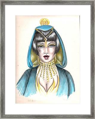 Egyptian Princess Framed Print by Scarlett Royal