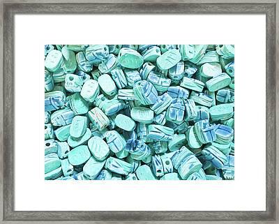 Egyptian Scarab Stones Framed Print by Tom Gowanlock