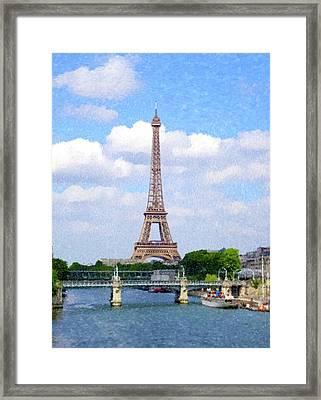 Eifel Tower From The Seine Framed Print by Gary Grayson