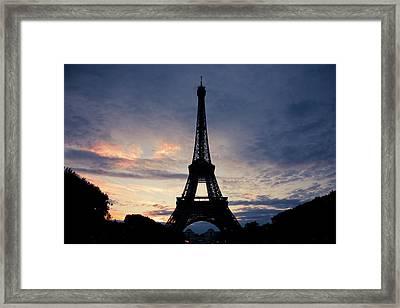 Eiffel Tower At Sunset, Paris, France Framed Print by Photo by rachel kara