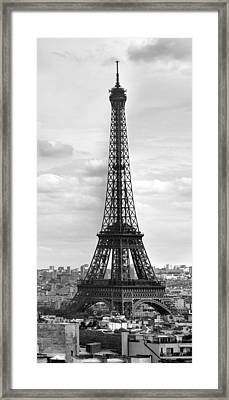 Eiffel Tower Black And White Framed Print by Melanie Viola