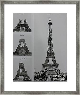 Eiffel Tower Contructions Framed Print by To-Tam Gerwe