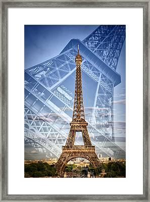 Eiffel Tower Double Exposure II Framed Print by Melanie Viola