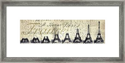 Eiffel Tower Framed Print by Jon Neidert