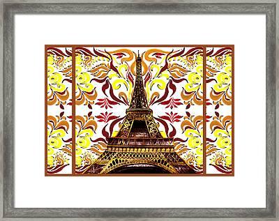 Eiffel Tower Mystic Laces I Framed Print by Irina Sztukowski