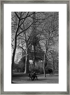 Eiffel Tower Framed Print by Obi Martinez