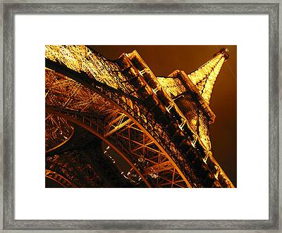 Eiffel Tower Paris France Framed Print by Gene Sizemore