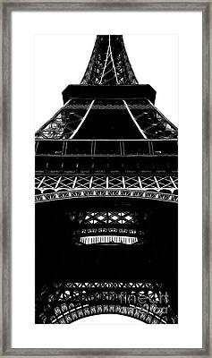 Eiffel Tower Paris Graphic Phone Case Framed Print by Edward Fielding