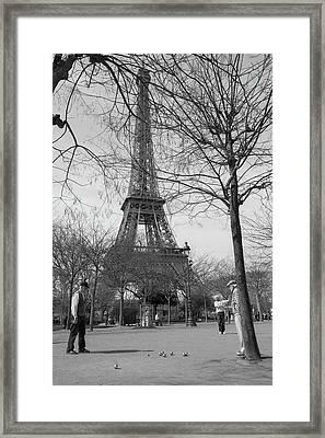 Eiffel Tower Petanque Play Framed Print by Jeff Nissen