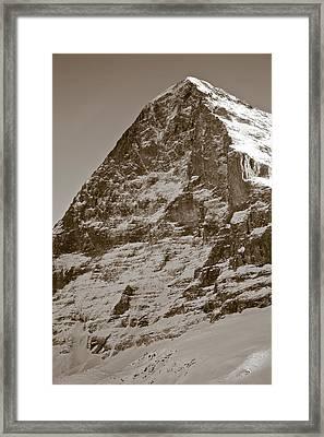 Eiger North Face Framed Print by Frank Tschakert
