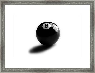 Eight Ball Framed Print by Mark Wagoner