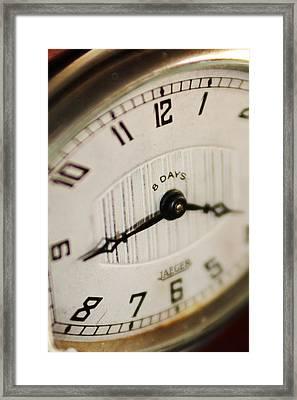 Eight Days A Week Clock Framed Print by Jill Reger