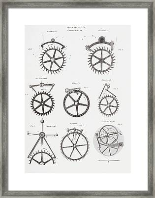 Eight Different Escapement Systems By Framed Print by Vintage Design Pics