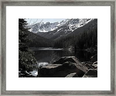 Eight Mile Lake No. 1 Framed Print by Sandy Rubini