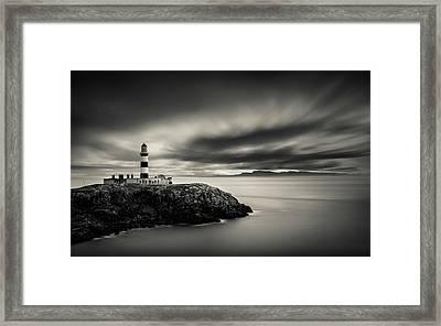Eilean Glas Lighthouse Framed Print by Dave Bowman