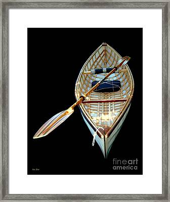 Eileen's Canoe Framed Print by Dale   Ford
