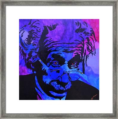 Einstein-all Things Relative Framed Print by Bill Manson