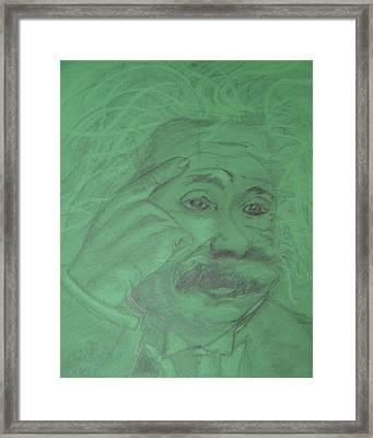 Einstein Framed Print by Manuela Constantin