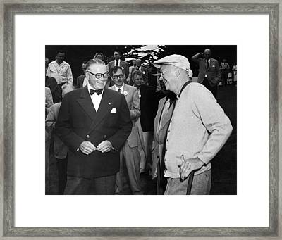 Eisenhower At Pebble Beach Framed Print by Underwood Archives